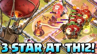 3 STAR at TOWN HALL 12 | LavaLoon TH12 Attack Strategy | Clash of Clans