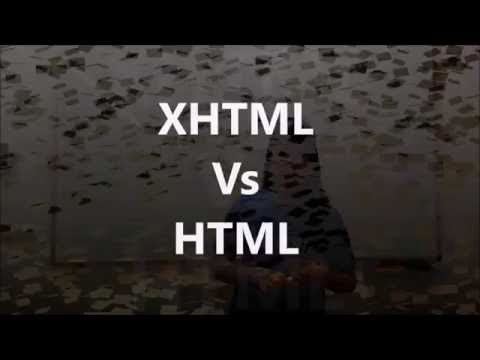XHTML Vs HTML