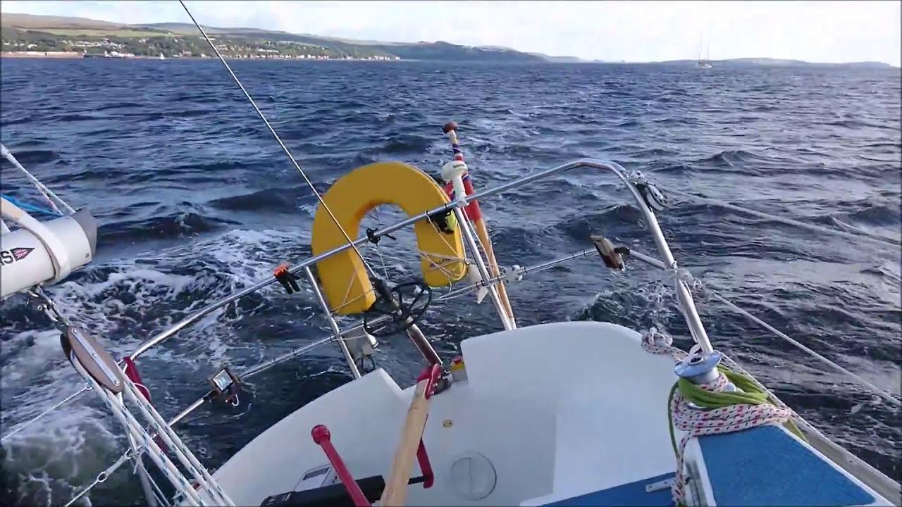 Running The Arduino Autopilot Whilst Sailing To Rhu  Drawingboard82 05:11 HD