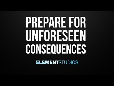 Prepare for Unforeseen Consequences - Kinetic Typography