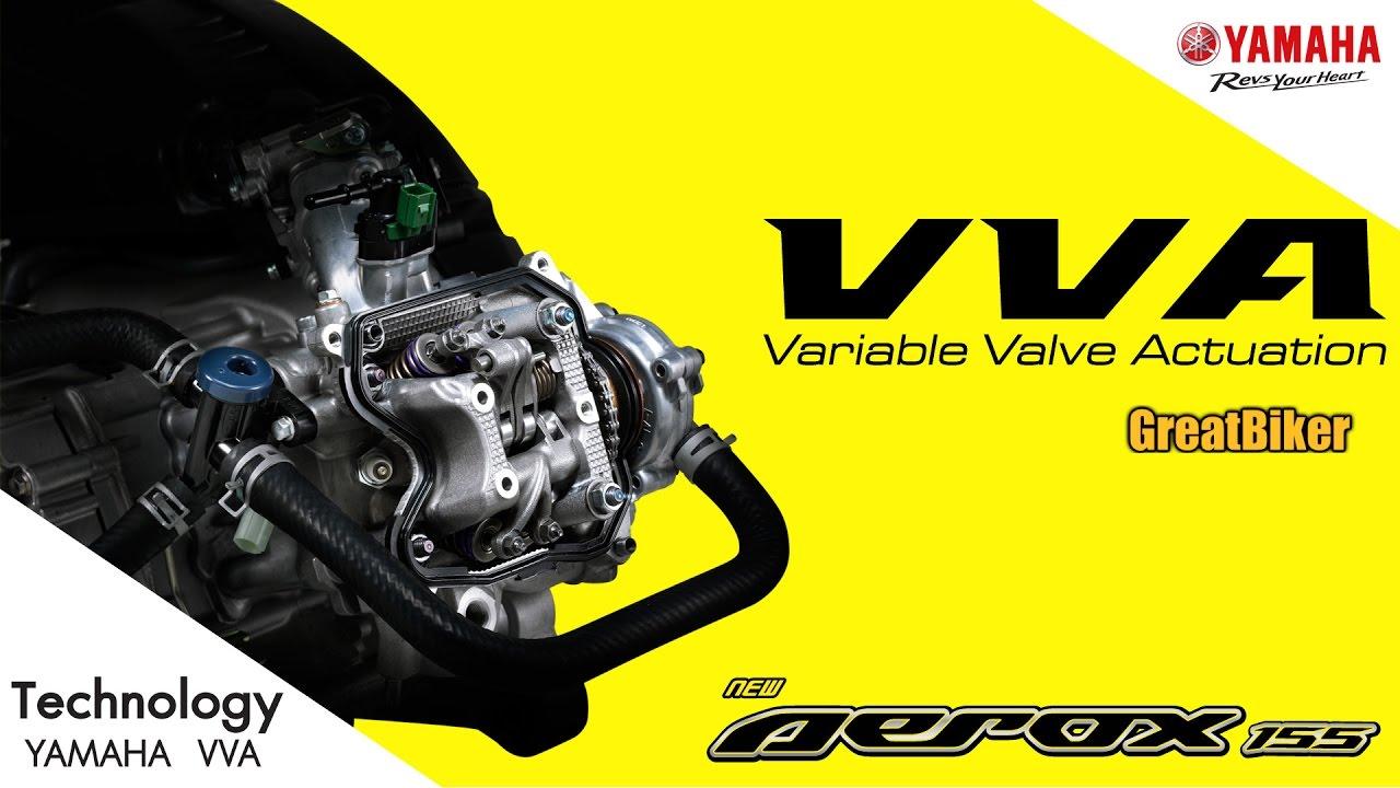 Download [Technology] ระบบวาล์วแปรผัน (VVA) เทคโนโลยีสุดเจ๋งในยามาฮ่า แอร็อกซ์ (Yamaha Aerox 155)