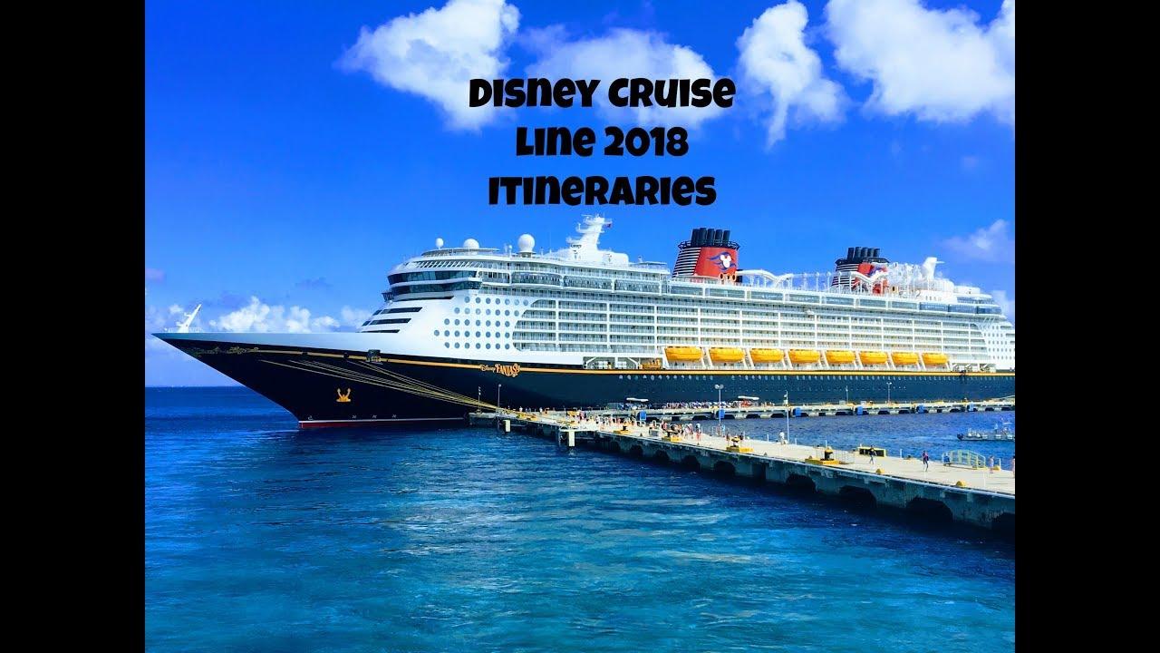 Disney Cruise Line 2018 Itineraries