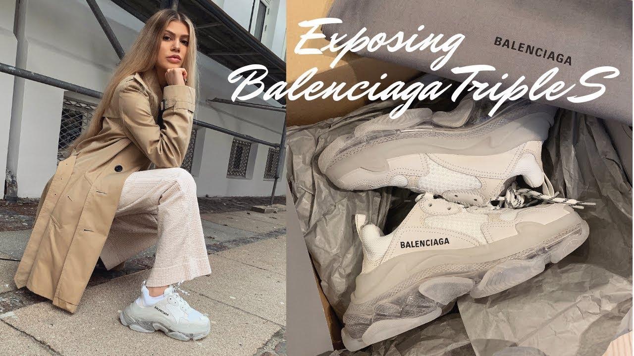 BALENCiAGA Runway Triple S Sneakers White 100 eBay