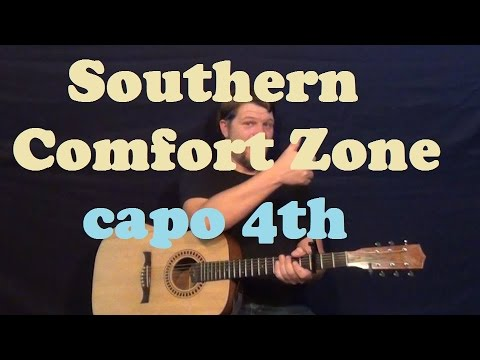 Southern Comfort Zone Brad Paisley Easy Guitar Lesson Capo 4th Fret How to Play Tutorial