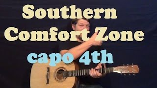 Southern Comfort Zone (Brad Paisley) Easy Guitar Lesson Capo 4th Fret How to Play Tutorial Mp3