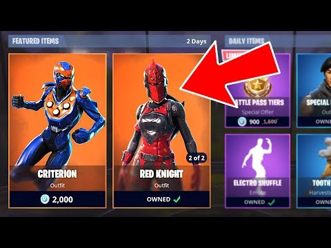 Fortnite *NEW* Legendary Criterion And Red Knight Skins! (Fortnite Battle Royale)