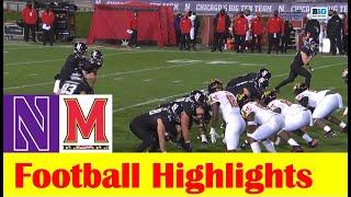 Maryland Vs Northwestern Football Game Highlights 10 24 2020