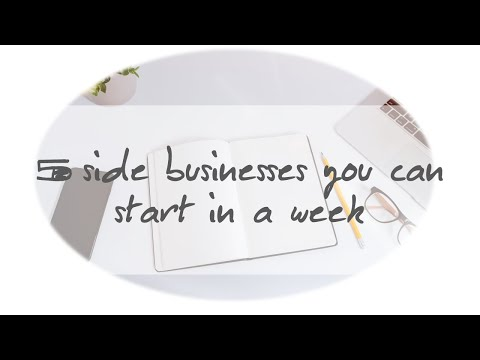 5 side businesses you can start in a week (South Africa)
