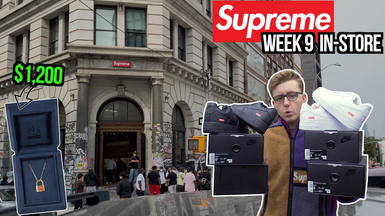 AIR FORCE 1 RESTOCK! Supreme Week 9 FW20 In-Store Vlog! | $1,200 Gold Pendant Unboxing! | Jacob & Co