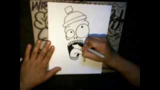 How to draw Crazy spraycan Character by Wizard