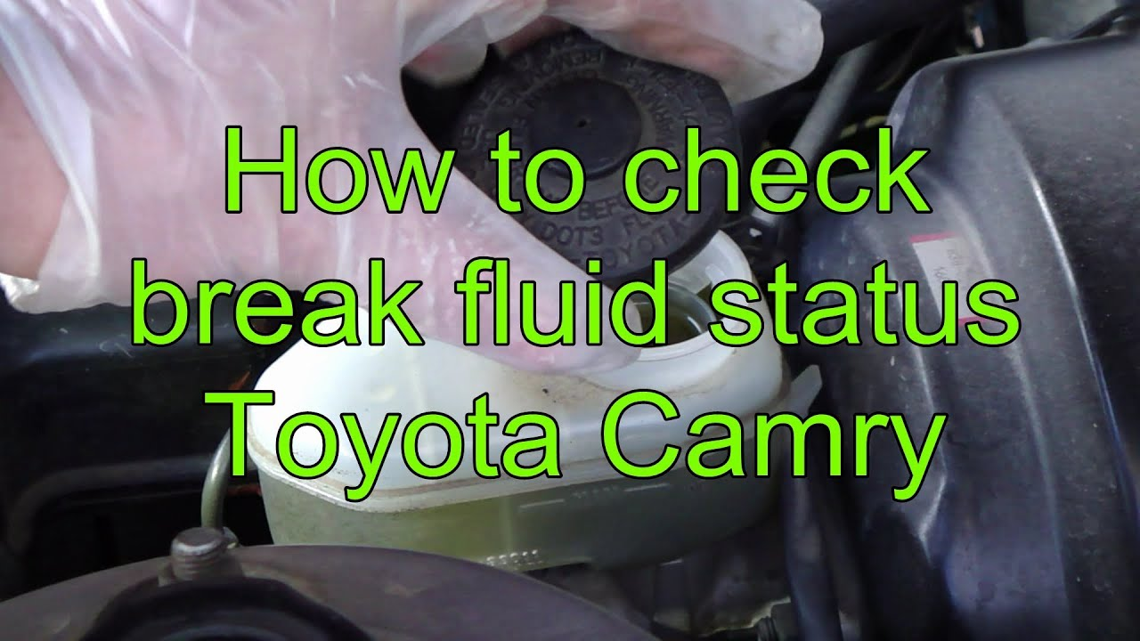 How To Check And Add Brake Fluid Toyota Camry Years 1991 2002