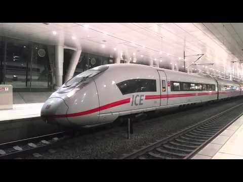 Velaro D fährt aus Frankfurt Flughafen Fernbahnhof