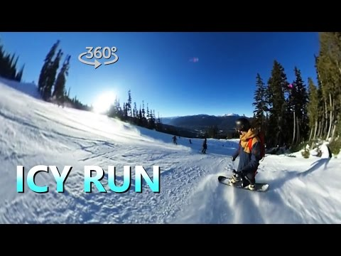 3 Tips For Snowboarding On ICE (360° Video)