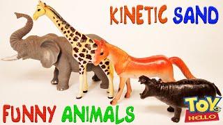 МУЛЬТФИЛЬМ Очень Смешные и ЦВЕТНЫЕ ЖИВОТНЫЕ с сюрпризом Учим цвета и Название животных на английском