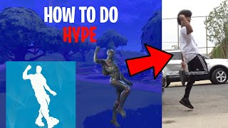 HOW TO DO THE HYPE ( SHOOT) DANCE FROM FORTNITE