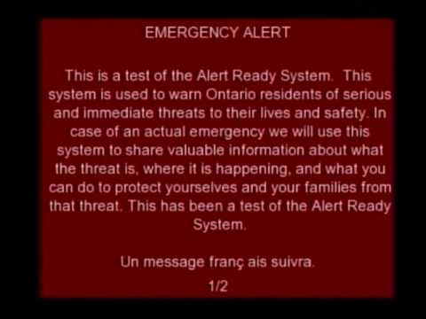 Another pointless Emergency Alert interrupt on Rogers Cable
