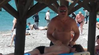 Массаж на пляжике Сочи Лазаревский(, 2016-06-30T05:50:59.000Z)