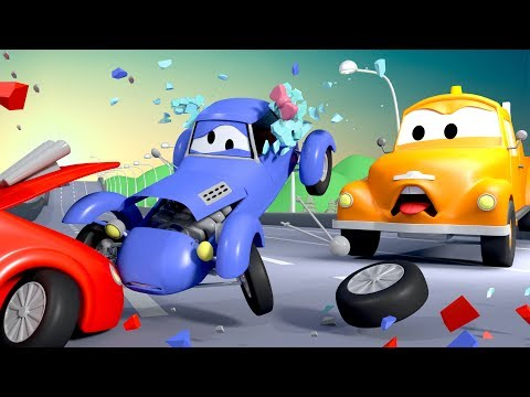 Tom The Tow Truck and Katie The Kit Car in Car City | Cars & Truck construction cartoon for children