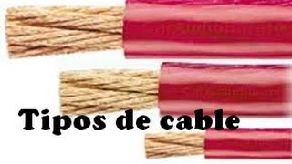 TIPOS DE CABLE CAR AUDIO