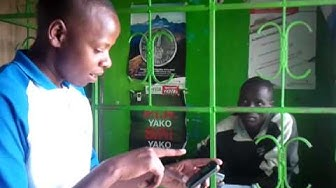 M-Pesa demonstration in Kenya