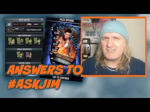 Answers to #AskJim Plus A New Titan Pro : WWE SuperCard S4 Ep29