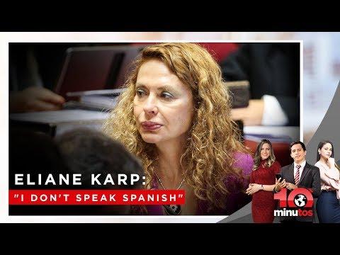 "Eliane Karp evitó responder sobre Toledo: ""I don't speak spanish"" - 10 minutos Edición Matinal"