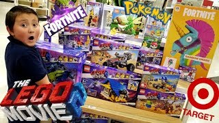 HUNTING NEW TOYS AT TARGET FOR THE NEW YEAR! HUGE HAUL! FINDING LEGO MOVIE, POKEMON & FORTNITE TOYS!