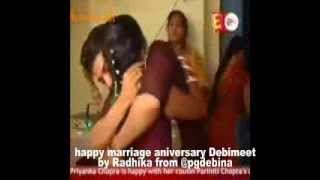 happy marriage aniversary DebiMeet (Debina-Gurmeet) vm on tare hai barati by Radhika from @pgdebina