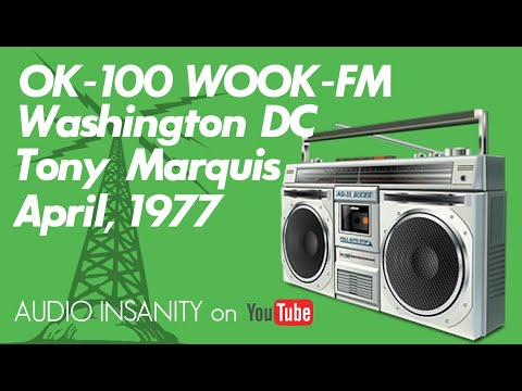 Old Skool DC Radio: WOOK-FM/OK-100 Washington DC Tony Marquis 1977