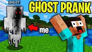SCARY GHOST PRANK IN MINECRAFT! - Minecraft Trolling Video