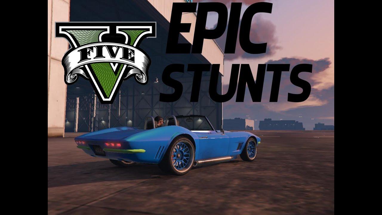 GTA 5 --- Car and Bike Stunts - YouTube