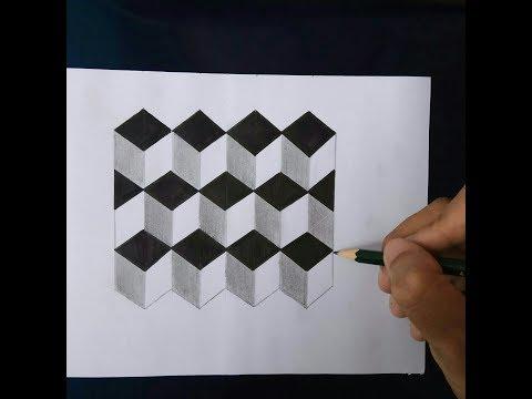 Belajar Cara Menggambar Ilusi Optik 3D