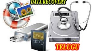 How to Data recovery from Memory Cards/Hard disks/Pen drives. step by step in telugu