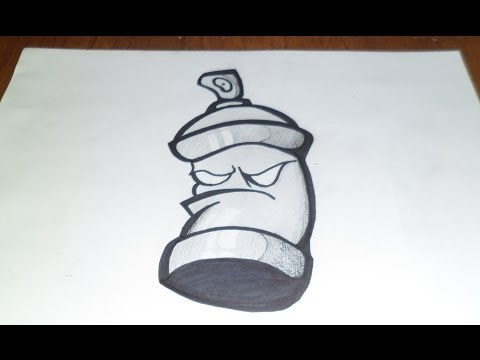 Bombe graffiti dessin