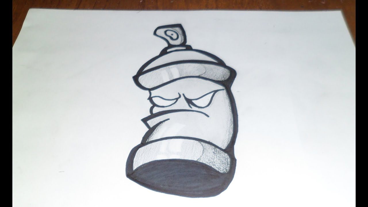 Dessin Bombe Aerosol Graffiti Par Zaxx Youtube