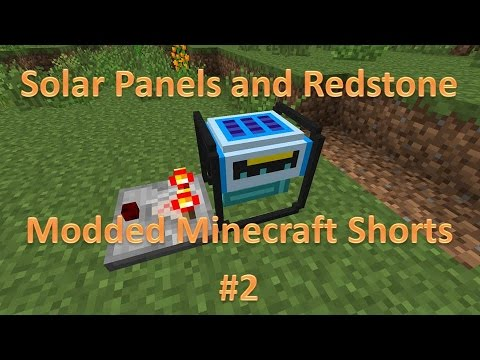 Solar Generators and Redstone : Modded Minecraft Shorts E2