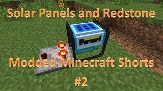 Solar Generators and Redstone : Modded Minecraft Shorts E2