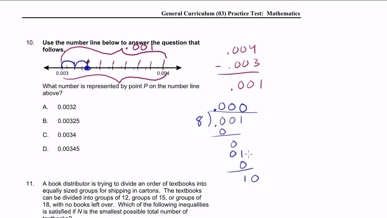 MTEL Math Practice Test: 9-11
