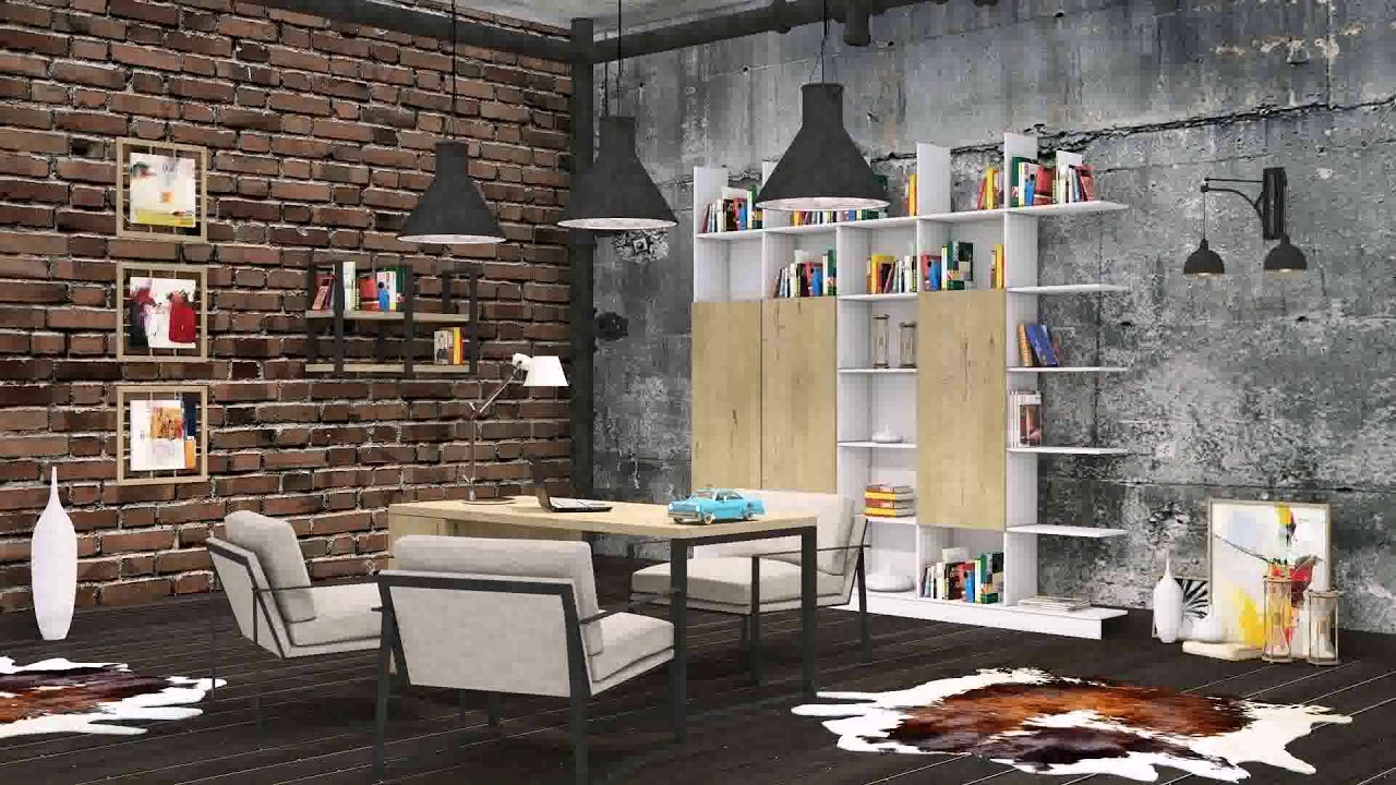 Modern Loft Office Design - YouTube