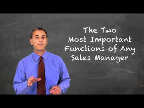 Two Most Important Functions of any Sales Manager