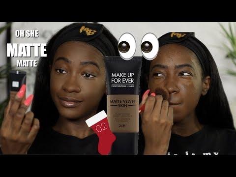 Make Up For Ever Matte Velvet Skin Foundation (R540) | 12 Days of Foundation Hunt Day 2