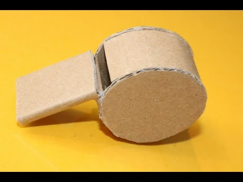How to Make a Whistle using Cardeboard