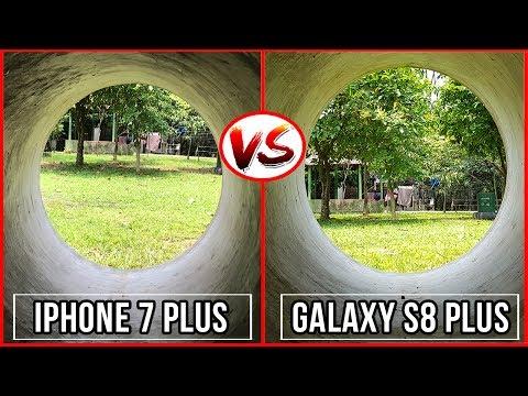 Galaxy S8 Plus VS IPhone 7 Plus Camera Test   4K, Low Light, Panorama, Auto Focus   PCB BD