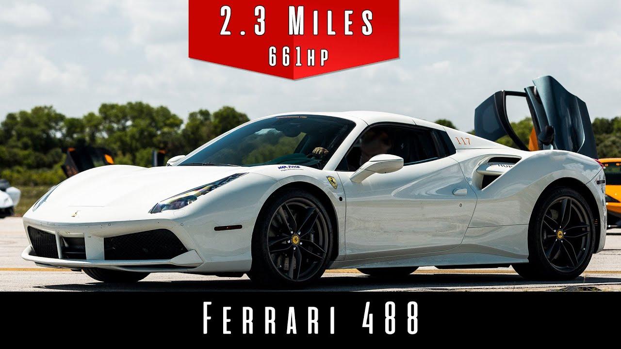 2017 Ferrari 488 Top Speed Test Youtube