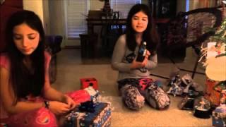 Scarlett & Ava Open Presents: Christmas 2015!