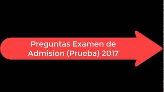 Examen de Prueba / Curso De Admisión UES 2017