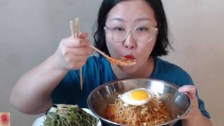 [キムチもやしビビンバ] 김치 콩나물비빔밥&미역줄기볶음👍