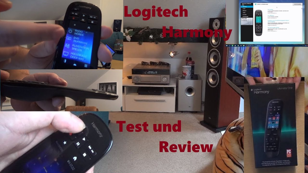 logitech harmony ultimate one test review deutsch full hd youtube. Black Bedroom Furniture Sets. Home Design Ideas