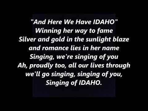 IDAHO Official State Anthem Song LYRICS WORDS BEST TOP POPUL