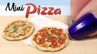 How To Miniature Pizza Tutorial // DIY Miniature Food // SugarCharmShop